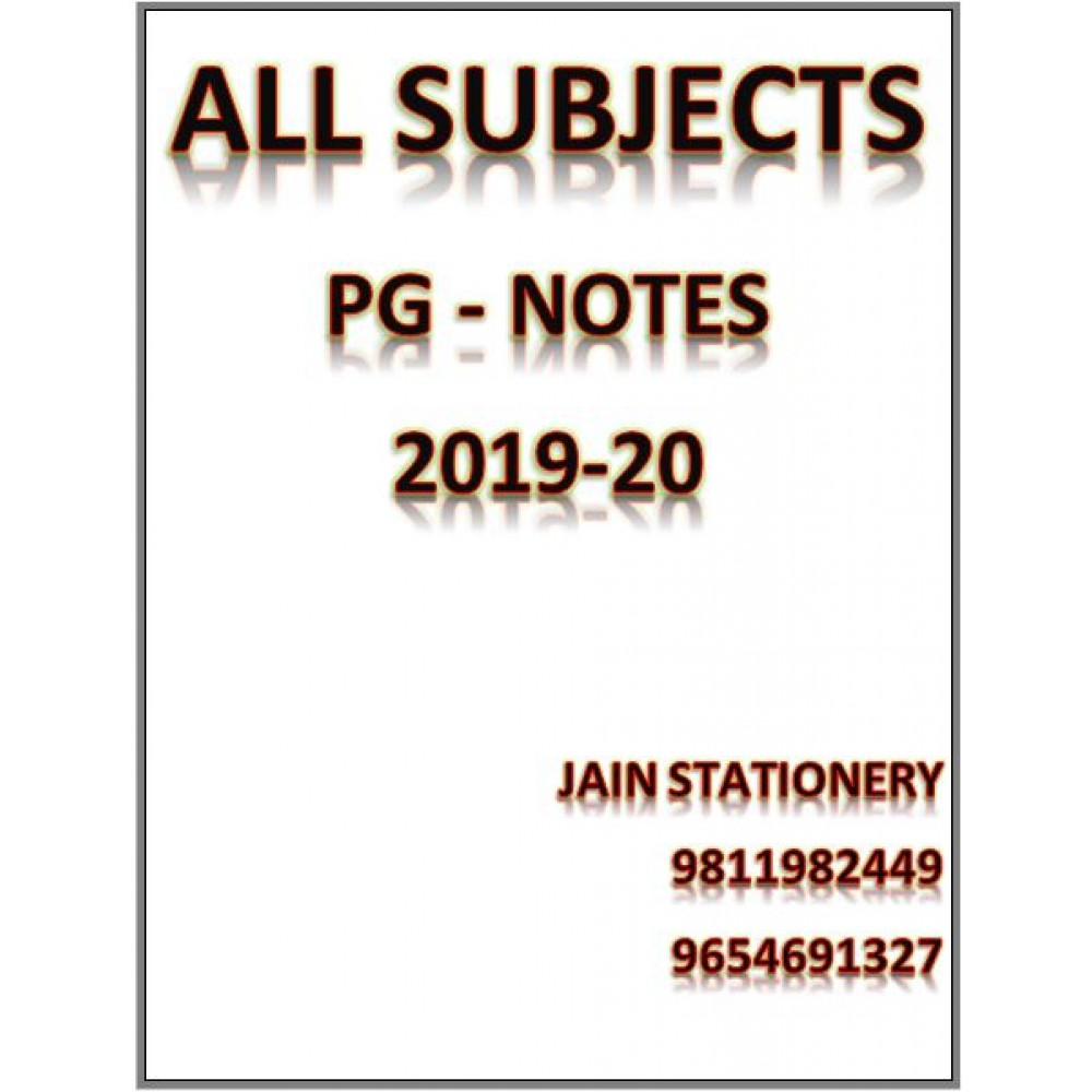 All Subjects Dams Pg Preparation Hand Written Notes 2019-20