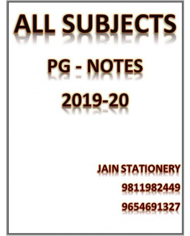 All Subjects Dams Pg Preparation Hand Written Notes 2019