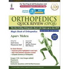 Orthopedics Quick Review (OPQR) 7th Edition 2019 by Apurv Mehra