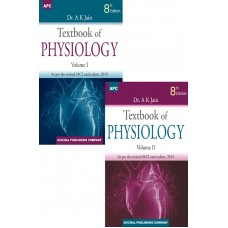 Textbook of Physiology With Free QA Physiology 8th Edition 2019 (2 Volume Set) by AK Jain