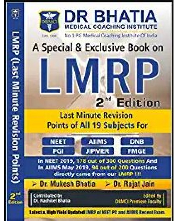 LMRP 2nd Edition Last Minute Revision Points Of All 19 Subjects by Dr.Mukesh Bhatia