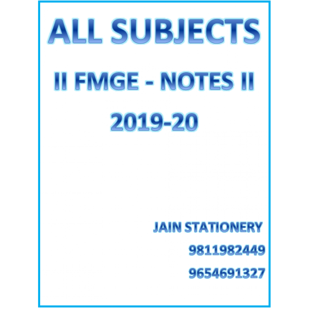All Subjects AFMG  Hand Written Notes 2019-20
