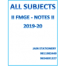 All Subjects Afmg For Fmge Hand Written Notes 2019-20