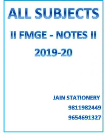 All Subjects AFMG Notes For FMGE Exam 2019-20