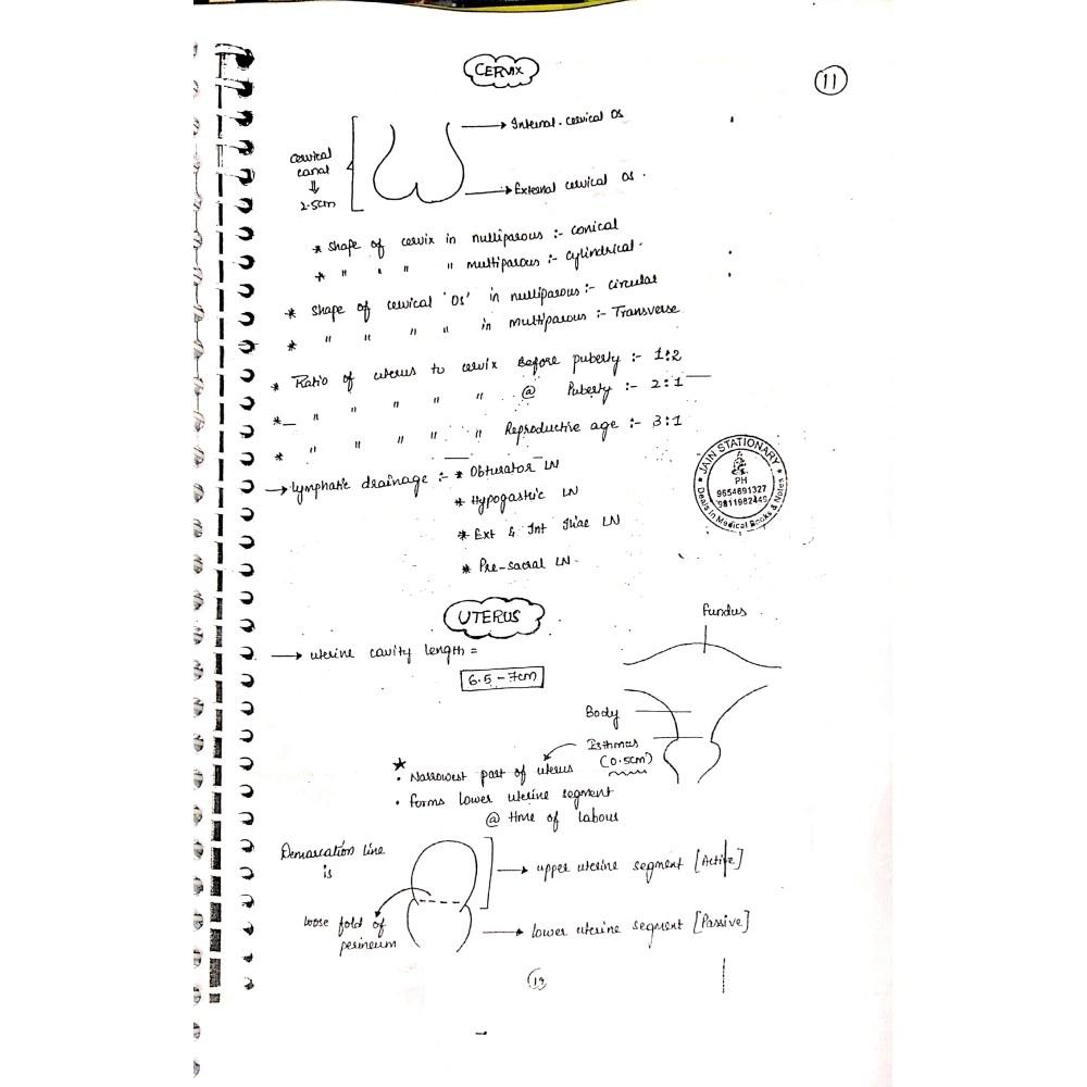 Obstetrics Gynecology AFMG-Hand Written Notes 2019-20