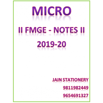 Microbiology AFMG-Hand Written Notes 2019-20