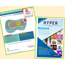 Combo Pack Of FMGE Solutions for MCI Screening Examination;6th Edition 2021 With Hyper (High Yielding Points 2016-2019