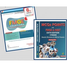 Combo Pack Of FMGE Solutions for MCI Screening Examination With MCQ Points For FMGE & NEET 19000 Quick Review
