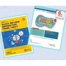 Combo Pack of FMGE Solutions for MCI Screening Examination with MBK's Quick Review Series for FMGE/NEXT