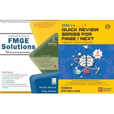 Combo Pack of MBK's Quick Review Series for FMGE/NEXT-3rd Edition 2020 By Dr. P.Harinath Dr.Seyed Abdul Cader With FMGE Solutions for MCI Screening Examination By Deepak Marwah