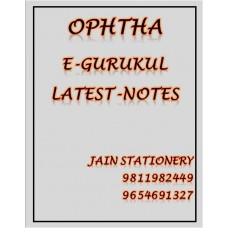 Ophthalmology E-Gurukul PG Hand Written Notes (Colored)2020-21 By Dr Niha Aggarwal