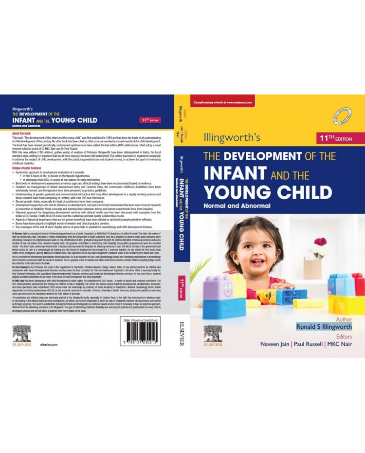 Illingworth's:The Development Of The Infant And Young Child;11th Edition 2021By Naveen Jain, Paul Russell & MKC Nair