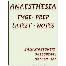 Anaesthesia Fmge-Prep Colour Printed Notes 2020-21