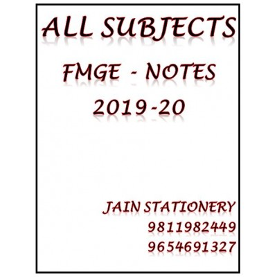 All Subjects Mist For Fmge Hand Written Notes 2019-20