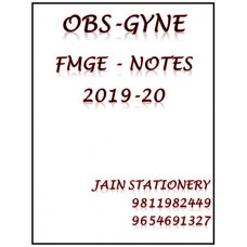 Obstetrics & Gynecology Mist For Fmge Hand Written Notes 2019-20