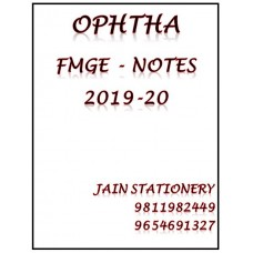 Opthalmology Mist Fmge Notes 2019-20