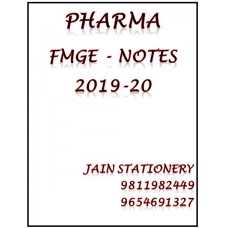 Pharmacology Mist Fmge Notes 2019-20