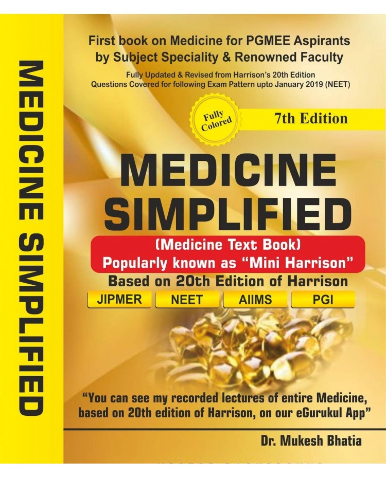 Medicine Simplified (Medicine Textbook) 7th Edition By Dr. Mukesh Bhatia