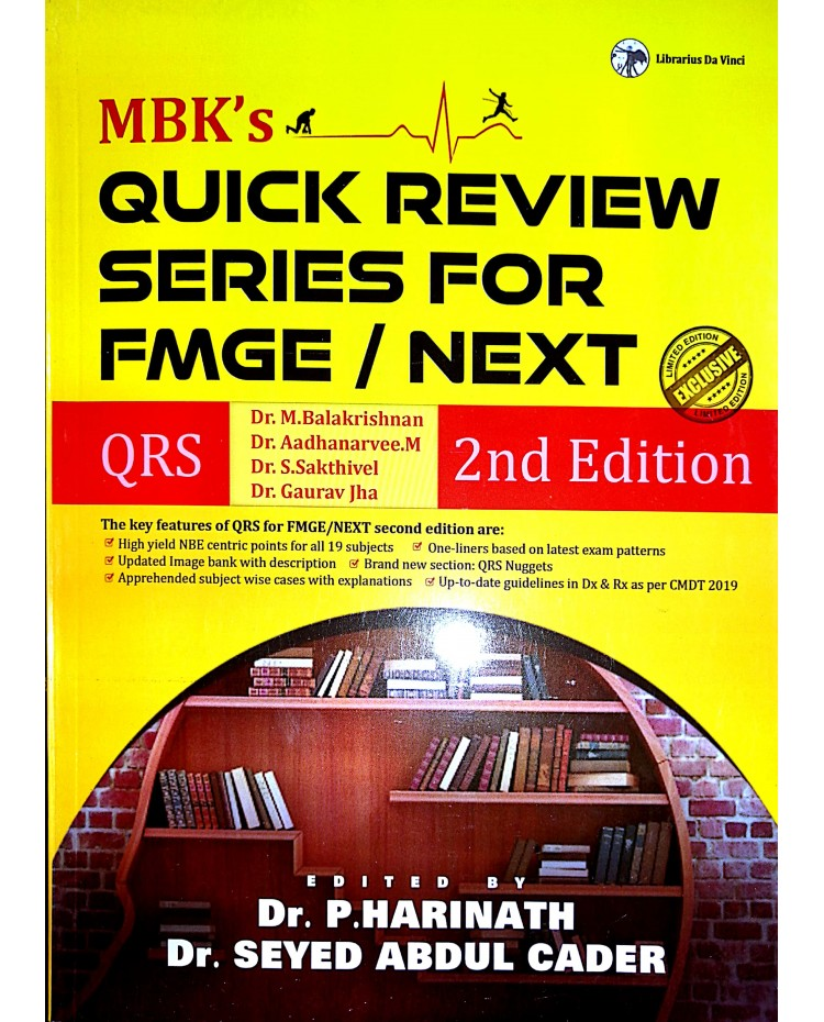 MBK's Quick Review Series for FMGE/NEXT-2nd Edition