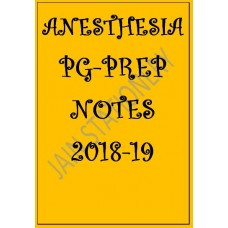 Anaesthesia PG-Prep Colour Printed Notes 2018-19