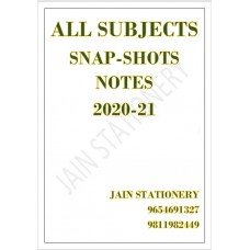 All Subjects Snap Shot Color Printed Notes 2020-21: 2 Volume Set