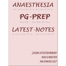 Anaesthesia PG-Prep Color Printed Notes 2020-21