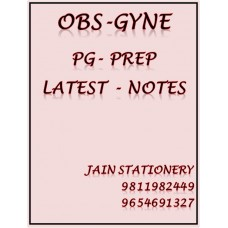 Obs Gyne PG-Prep Colour Printed Notes 2020-21