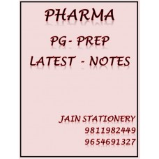 Pharmacology PG-Prep Colour Printed Notes 2020-21