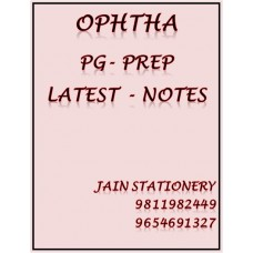 Ophthamology PG-Prep Colour Printed Notes 2020-21