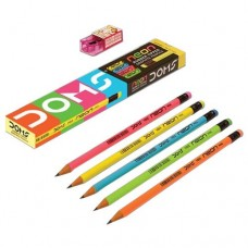 Doms Neon Rubber Tipped Graphite Pencils (Pack Of 40)