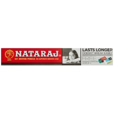 Nataraj 621 Pencils - Pack of 50 with 5 Free Eraser & Sharpeners Each