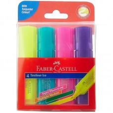 Faber-Castell Ice Textliner - 4 Color set  (Assorted)