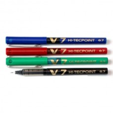 PILOT V7 PEN (BLUE + BLACK+ RED + GREEN) PACK OF 4
