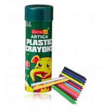 Camel Plastic Crayons (12 Shades)- Pack of 2
