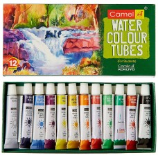 Camlin Kokuyo Student Water Color Tube - 5ml Each, 12 Shades