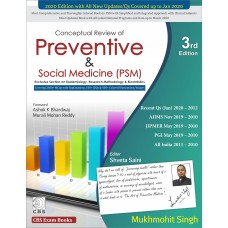 CONCEPTUAL REVIEW OF PREVENTIVE & SOCIAL MEDICINE (PSM) 3rd Edition by Mukhmohit Singh