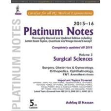 Platinum Notes: Surgical Sciences (2015–16) (Volume 3)